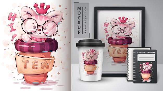 Merchandising de gato princesa