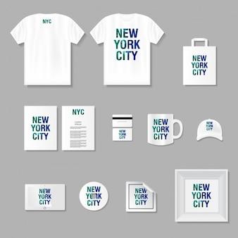 Merchandising e artigos de papelaria mock up