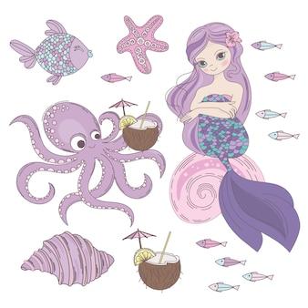 Mermaid dessert princesa subaquática