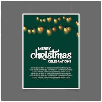 Merry christmas decoration iluminação modelo verde