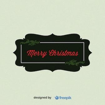 Merry christmas, etiqueta rectangular