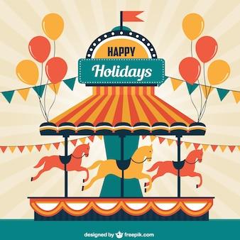 Merry-go-round cartão