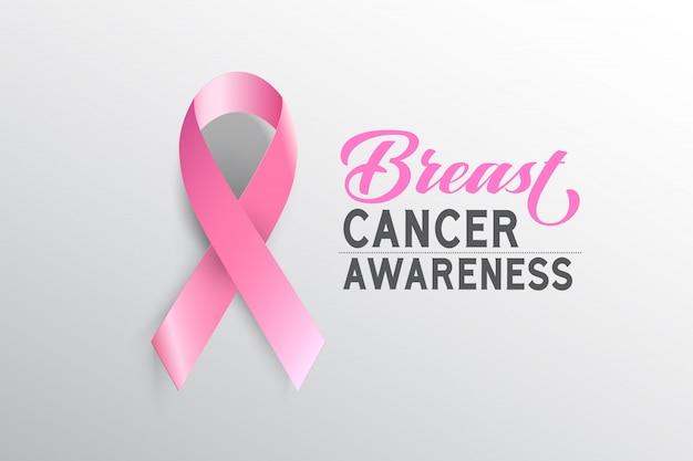 Mês da consciência do cancro da mama do símbolo em outubro.