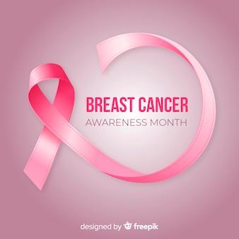 Mês de conscientização de câncer de mama com fita realista