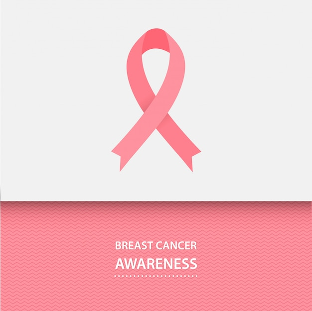 Mês de conscientização do câncer de mama. fita rosa.