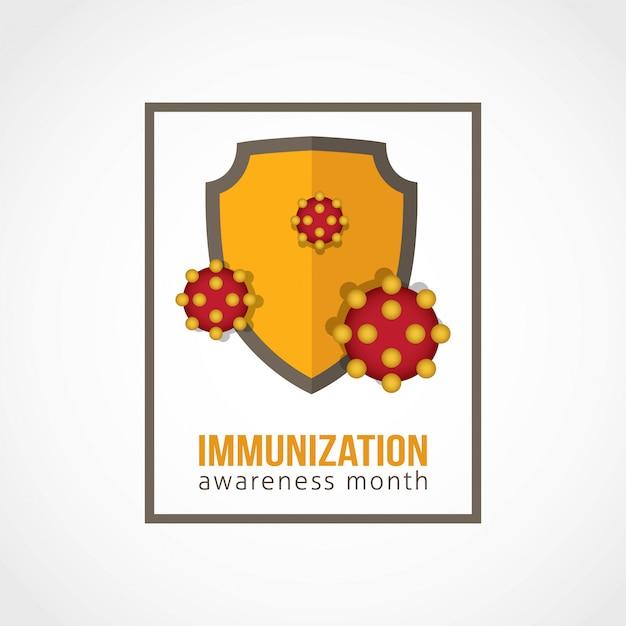 Mês de conscientização sobre imunização