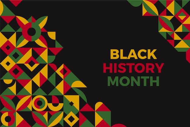 Mês de história preta plana