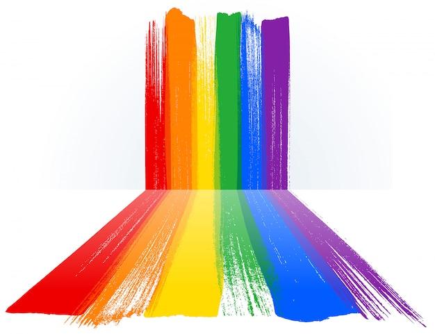 Mês do orgulho lgbt com fundo de pintura de arco-íris.
