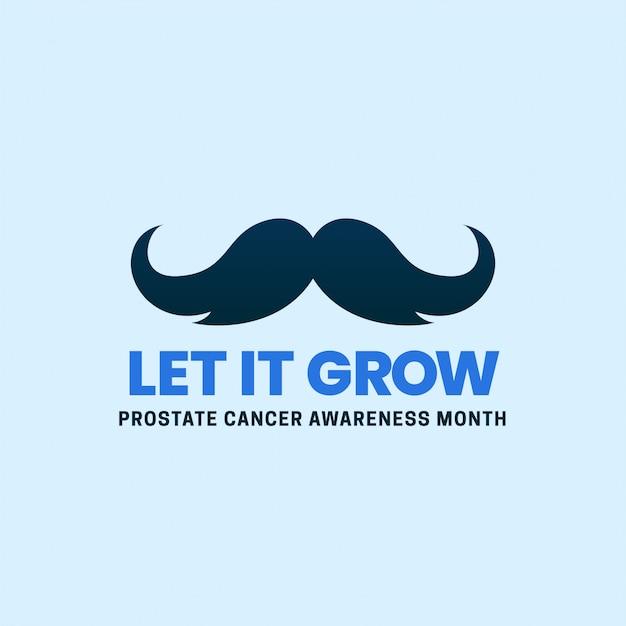 Mês limpo simples da conscientização do câncer de próstata