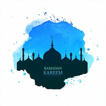 Mês sagrado do ramadã kareem cartão fundo