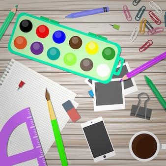 Mesa de artista e designer