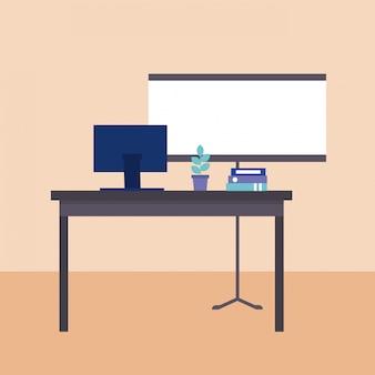 Mesa de escritório de negócios