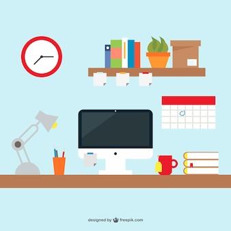 Mesa de escritório livre design simples
