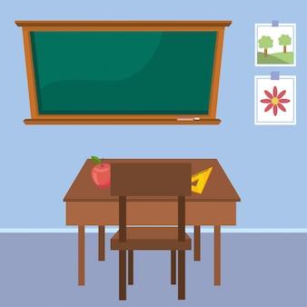 Mesa de professor da escola