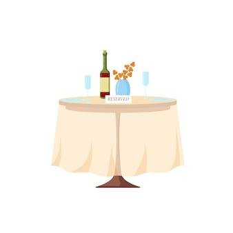 Mesa reservada em um restaurante. o conceito de serviço individual