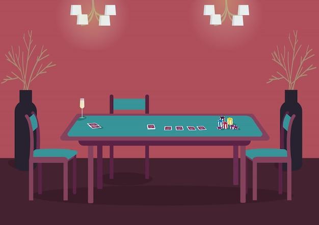 Mesa verde de poker