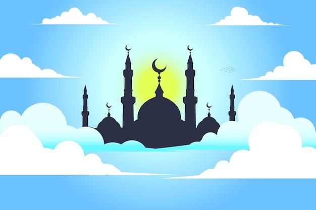 Mesquita com céu