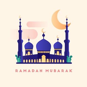 Mesquita design ilustração em estilo simples