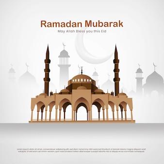 Mesquita eid mubarak vector