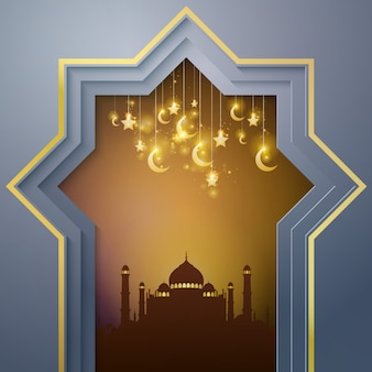 Mesquita islâmica de fundo