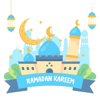 Mesquita islâmica ramadan kareem