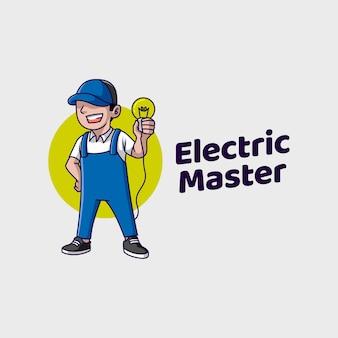 Mestre de serviço elétrico doméstico profissional
