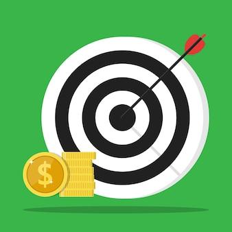 Meta financeira meta de ganhos objetivo