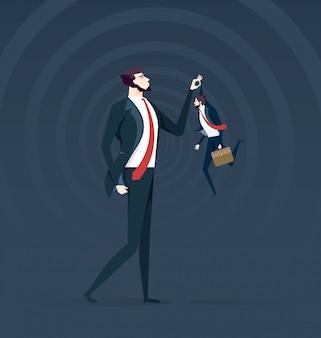 Metáfora de confronto de negócios.