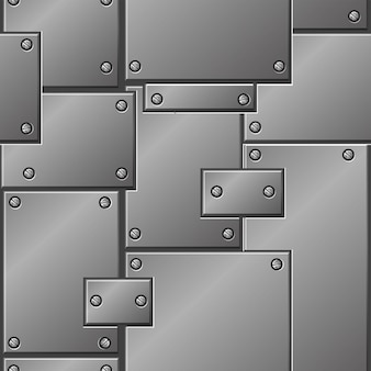 Metal sem costura padrão, placas de ferro para design gráfico.
