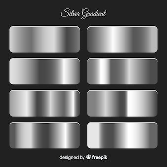 Metallic texture silver gradient set
