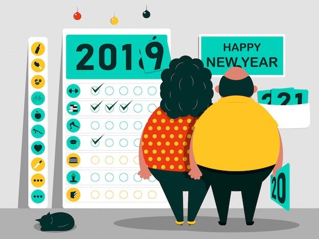 Metas e objetivos para o novo ano.