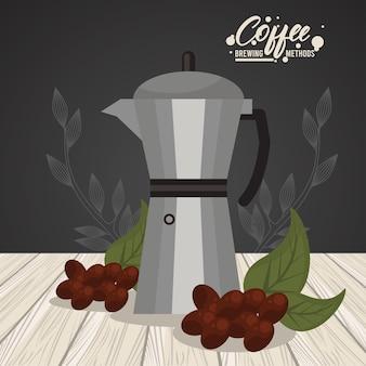 Método de preparação de café com maconha moka
