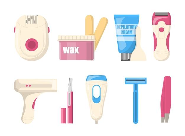 Métodos de depilação com diferentes formas de depilação da pele