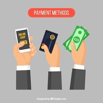 Métodos de pagamento com estilo elegante