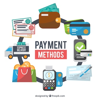Métodos de pagamento com estilo profissional
