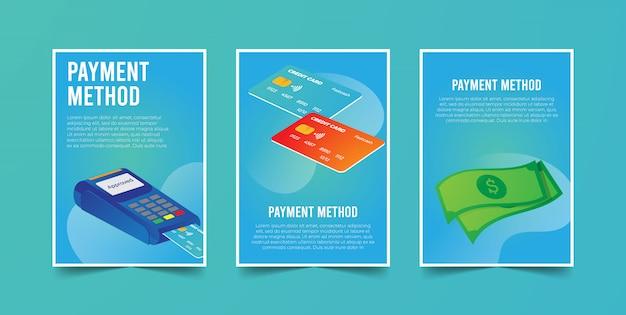 Métodos de pagamento no cartão de crédito e dinheiro