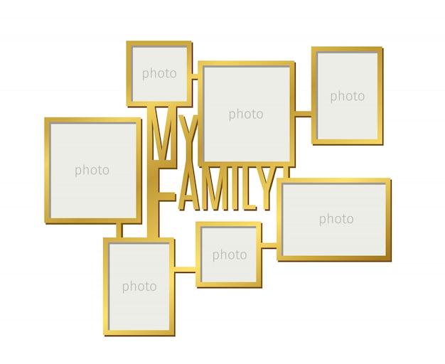 Meu conjunto de molduras para fotos de família