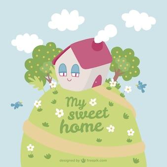 Meu desenho animado doce lar
