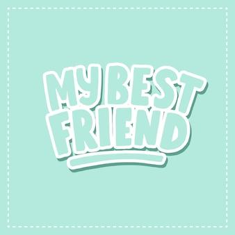 Meu melhor amigo cartão