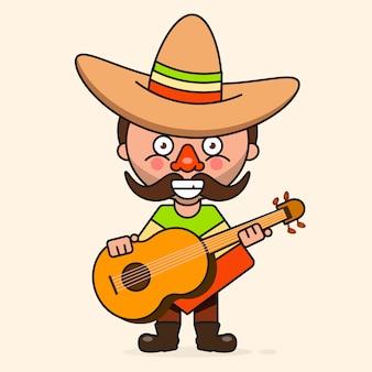 Mexicano, caricatura, homem