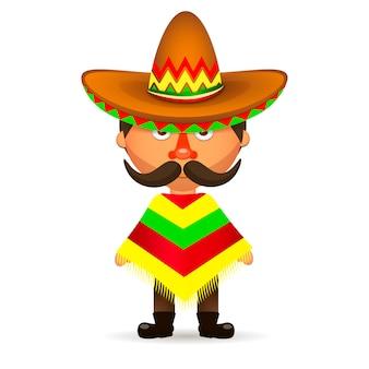 Mexicano, homem, com, chapéu