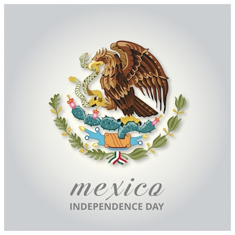 México país eagle symbol indepence day background