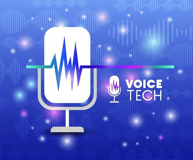 Microfone com tecnologia de reconhecimento de voz