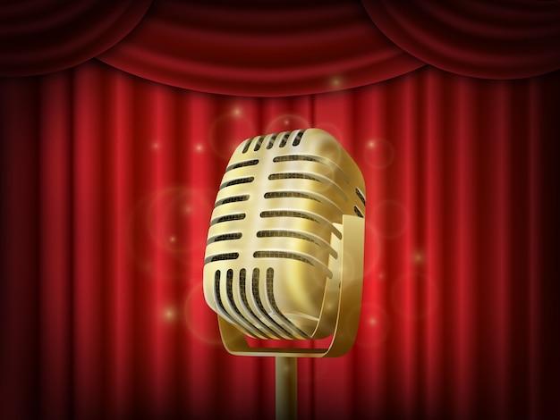 Microfone de metal vintage