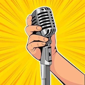 Microfone de preensão de mão