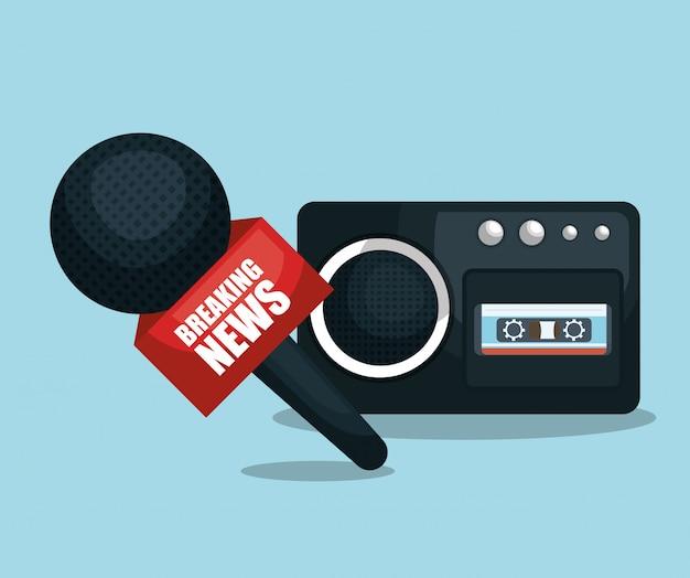 Microfone e gravador