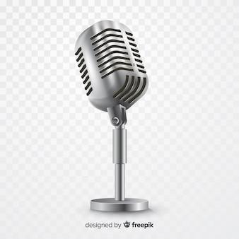 Microfone metálico realista para cantar