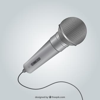 Microfone metálico