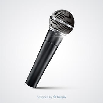 Microfone moderno realista