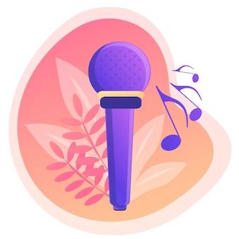 Microfone música popular cantora popular turnê da indústria da música pop, banda musical do artista das paradas de sucesso